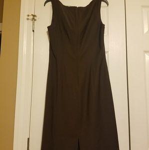 Talbots Dresses - Talbots Brown Sleeveless Dress size 10